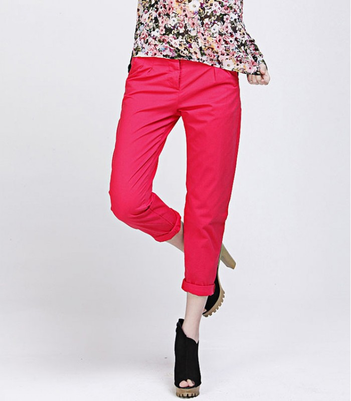 Pink casual trousers