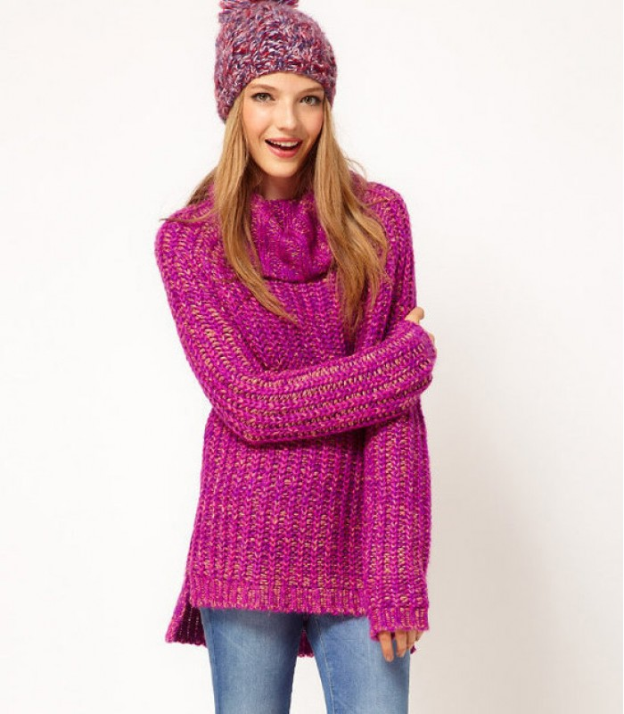 Long wool pullover