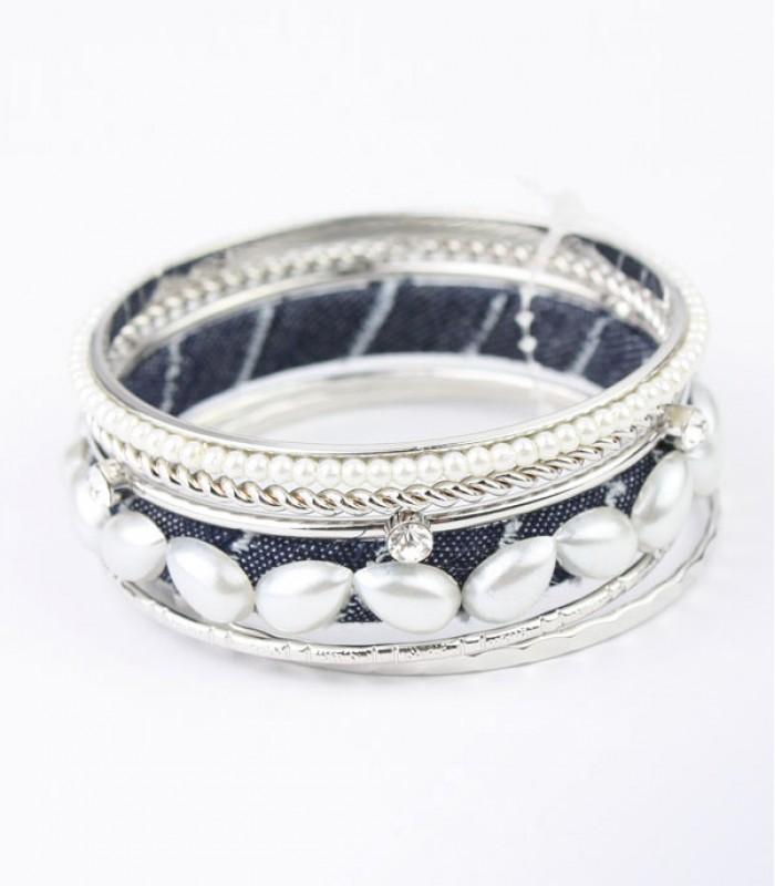 Ancient style silver bracelet